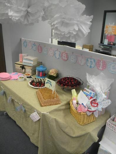 Delightful Office Baby Shower, Baby Shower For Twins #babyshowerideas4u #birthdayparty  #babyshowerdecorations #bridalshower