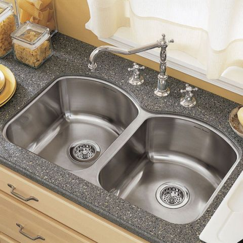 View Culinaire Under Mount Double Bowl Kitchen Sink Alternate View