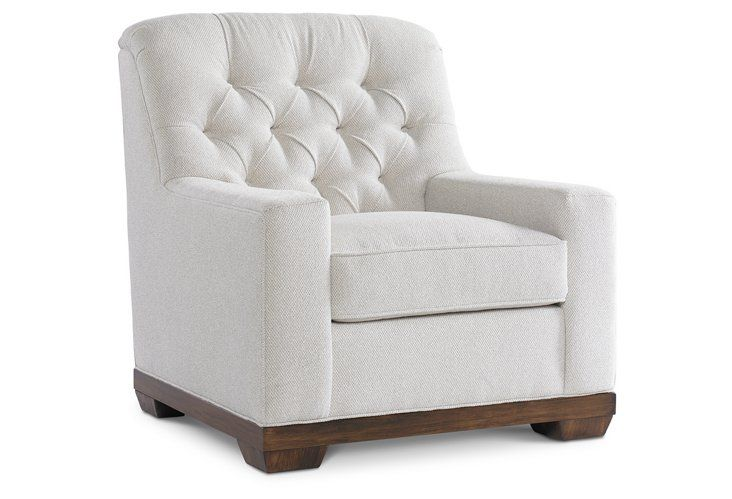 Melbourne Tufted Chair, White