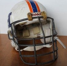 Vintage Riddell Football Helmet Vsr 1 Orange And Blue - $99.00