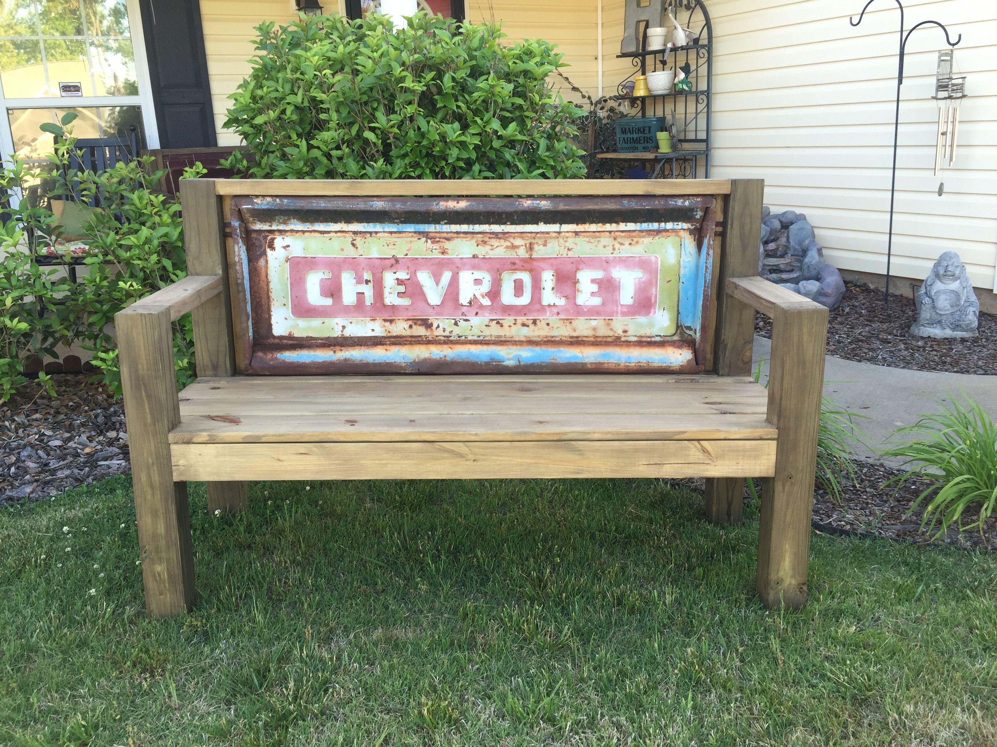 Chevy C10 Tailgate bench  handyhinch.com  Facebook.com/handyhinch