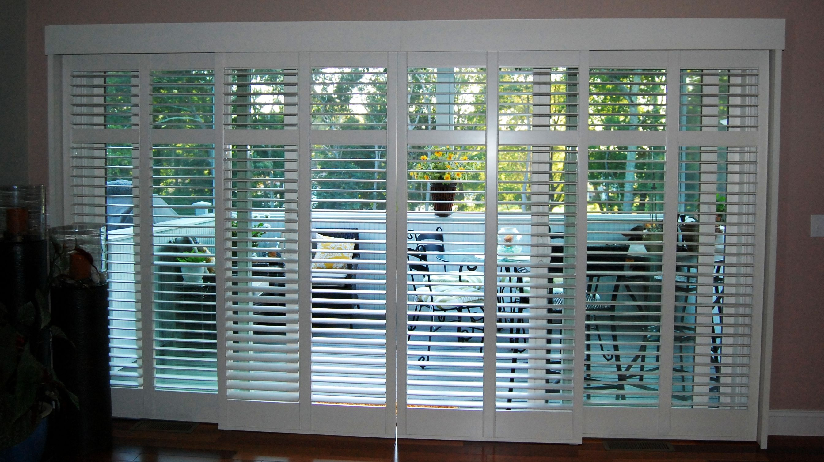 Contemporary doors shades with sliding door shutters also furnishing