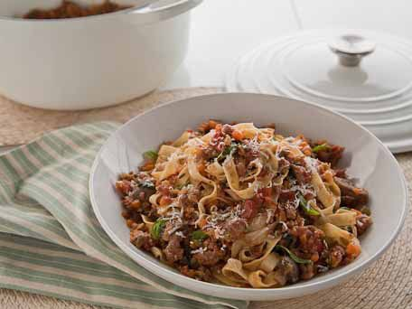 Turkey Bolognese With Fettuccine And Mushrooms | Autumn ...