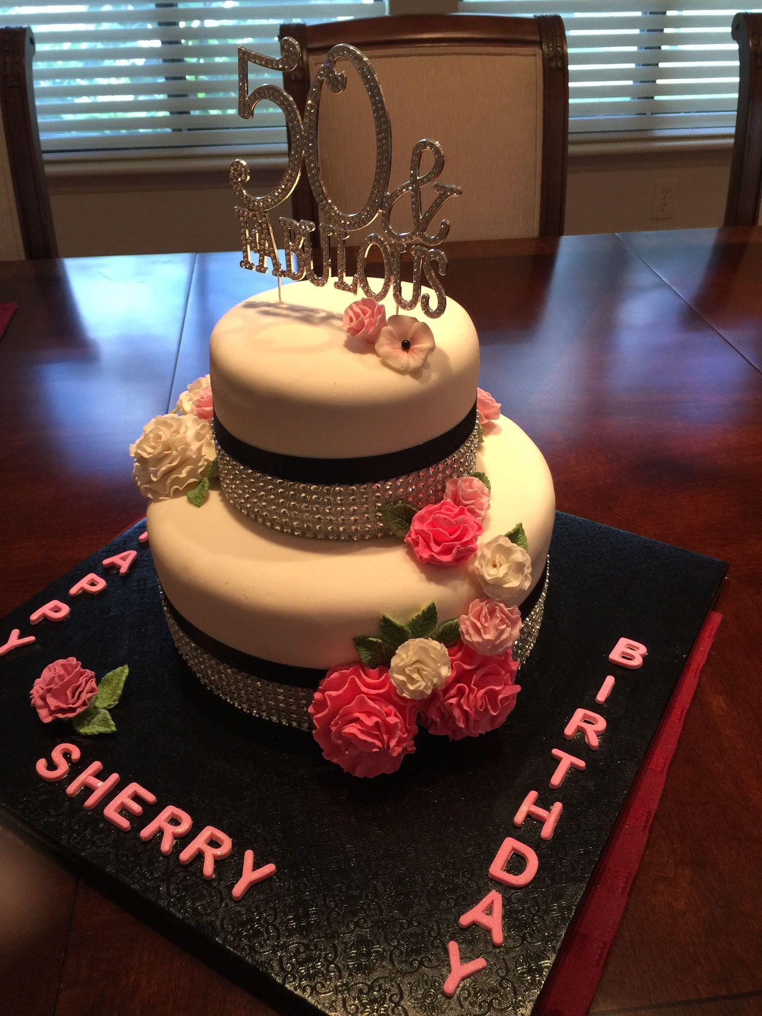 50th birthday cake i made for my daughterinlaws surprise