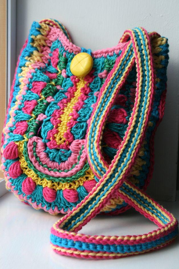 Crochet pattern, crochet bag pattern boho bag 166 | Bolsos, Tejido y ...