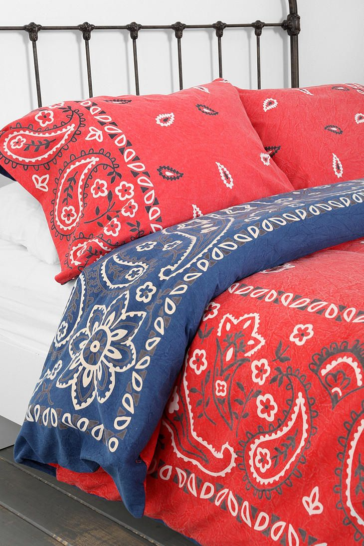 Bandana shams- for my Mom's glamper | Where I dream | Pinterest ... : red bandana quilt - Adamdwight.com