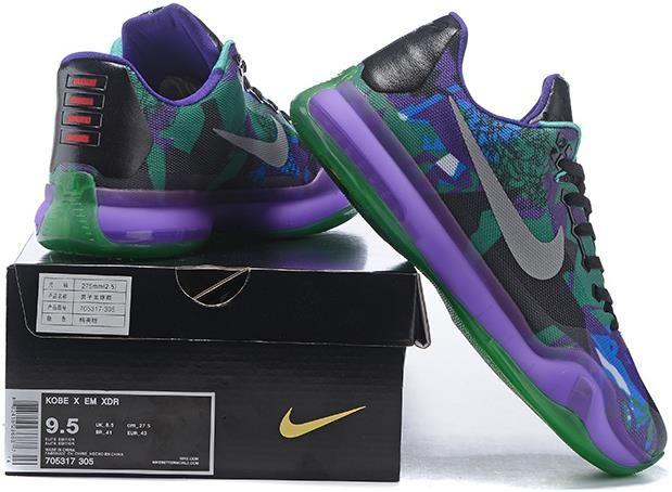 wholesale dealer 004e9 e1f98 Nike Zoom Kobe 10 X Green Purple Grey Black1