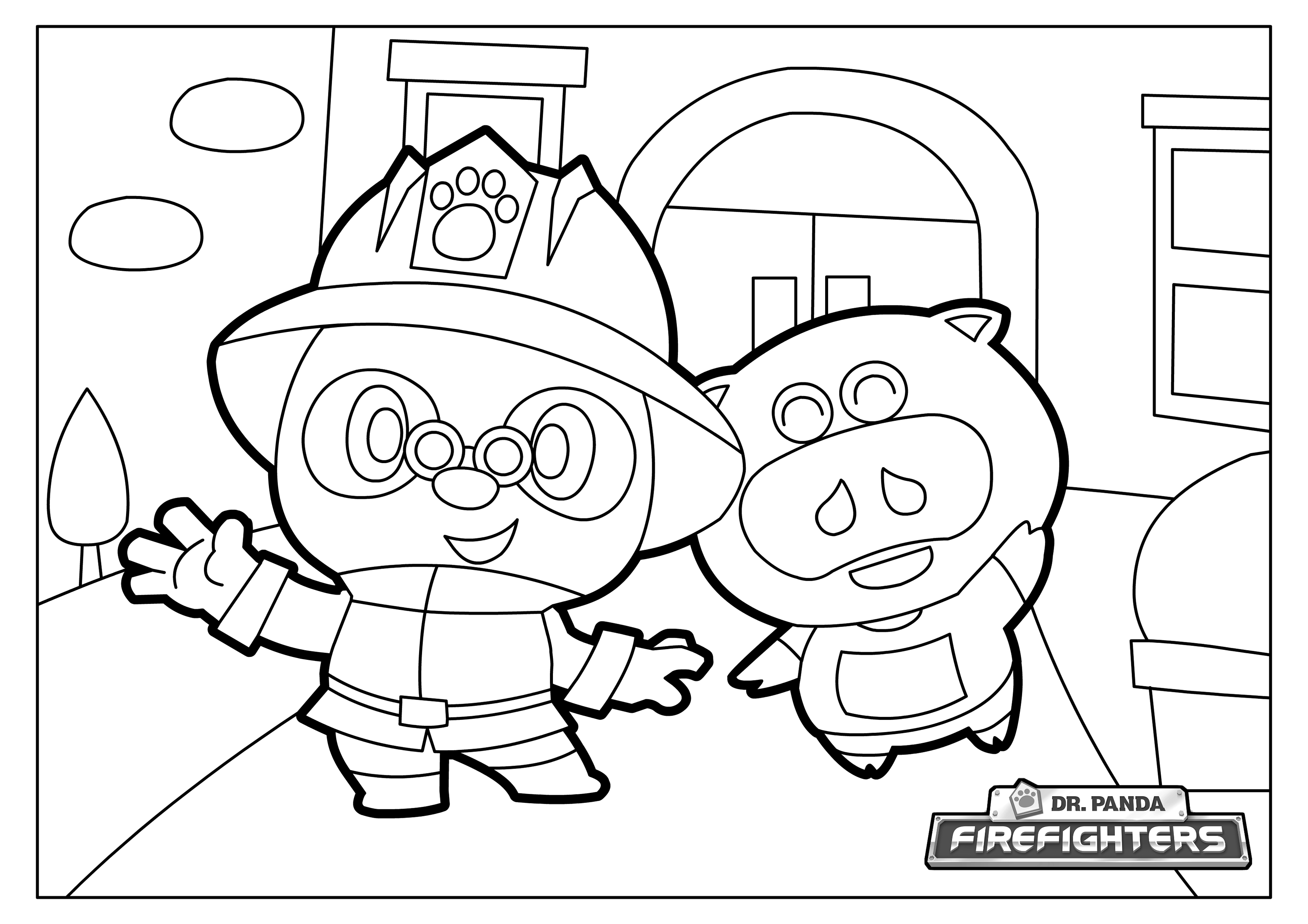 We Have Some Dr Panda Firefighters Coloring Pages For You To Print And Enjoy With Your Kids Fill Them In With Your Best And Brightest Colors Then P Kleuren [ 2480 x 3508 Pixel ]