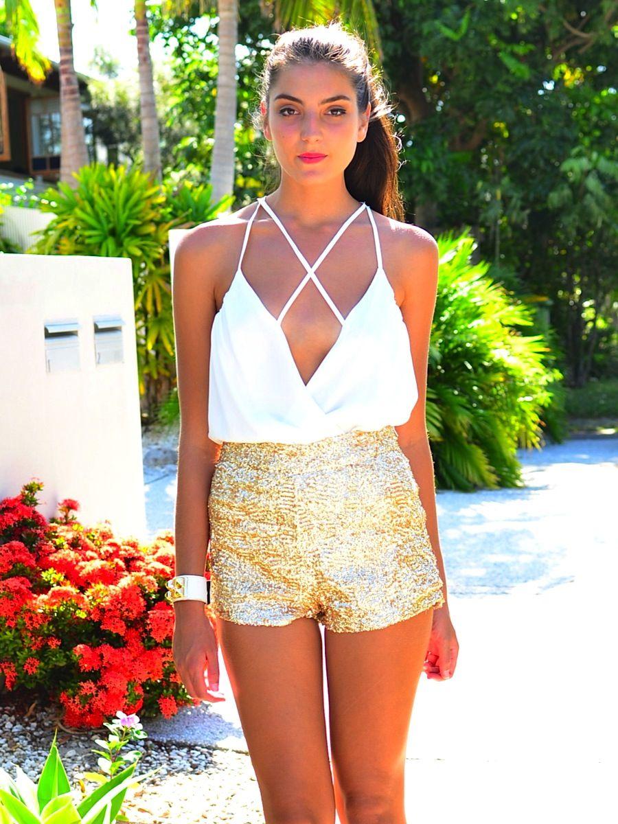 Love It Combinar Vestido Blanco Vestido Blanco Con Dorado Ropa