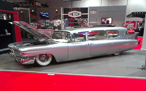 The base car is a 1948 Cadillac Series 62 Sedanette, customized for Billy Gibbons of ZZ Top.