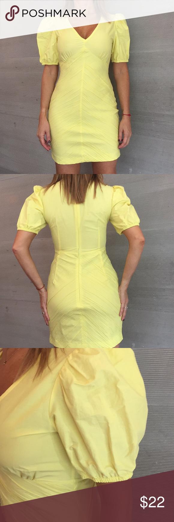 ZARA light yellow mid dress 🌼 in 2020   Mid dresses ...