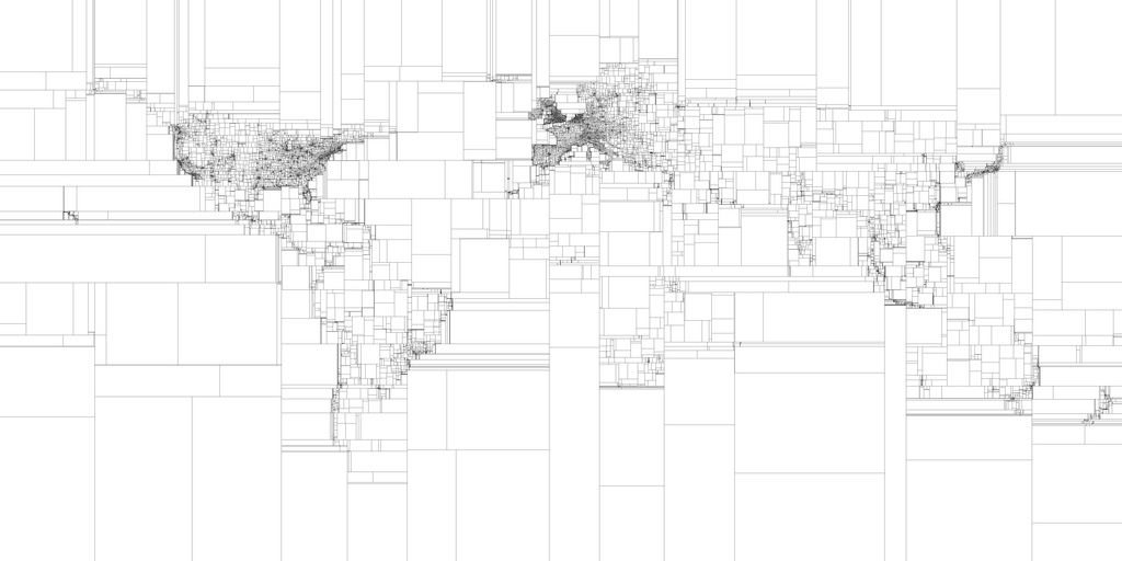 Binary subdivision of the world | Graphic | Map, Imaginary