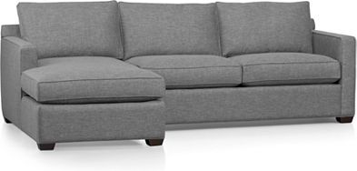 Davis sectional ash and pumice color crate and barrel  sc 1 st  Pinterest : crate and barrel davis sectional - Sectionals, Sofas & Couches