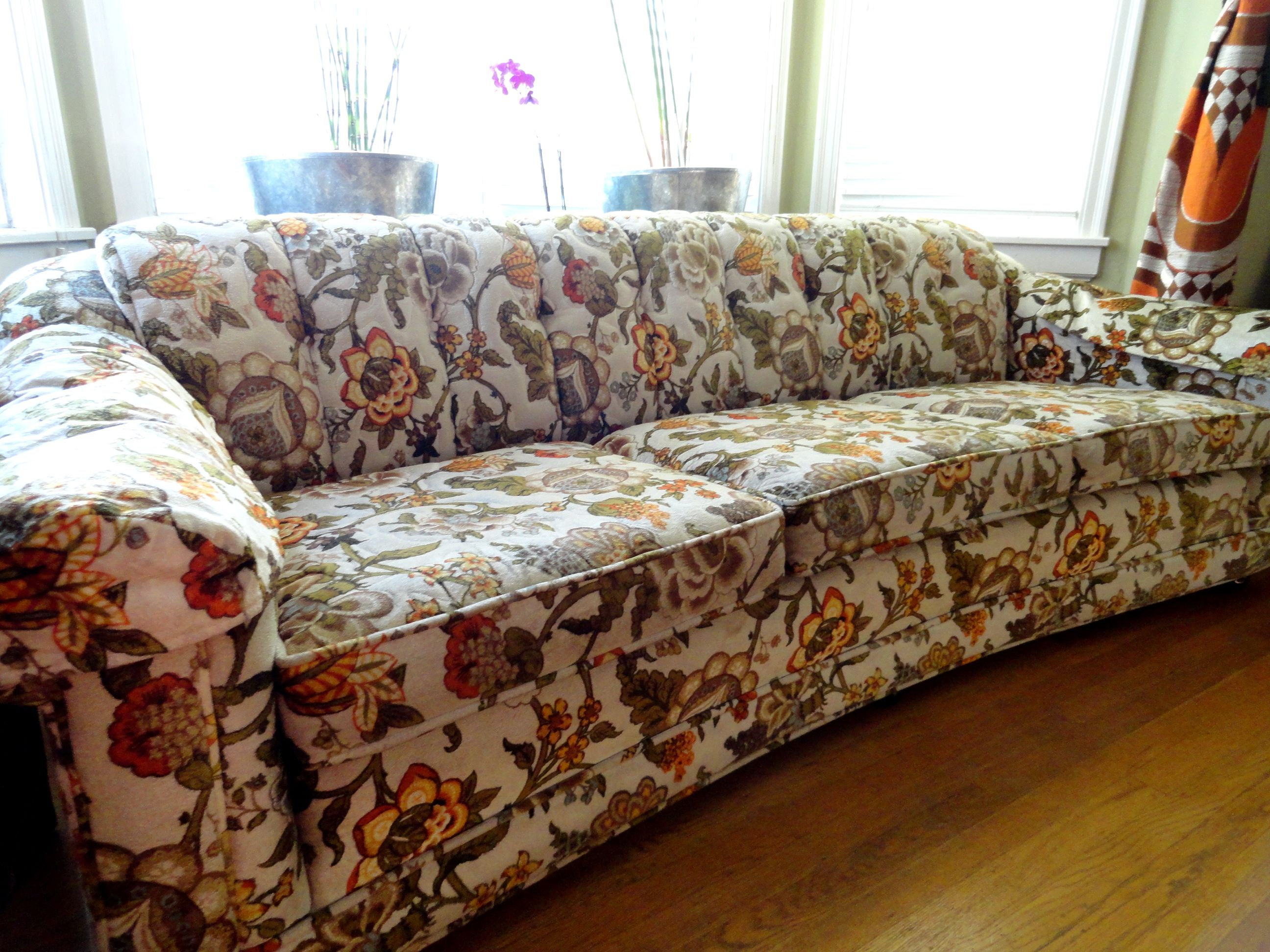 1970 S Curved Floral Couch Sold Jjv Shop Furniture