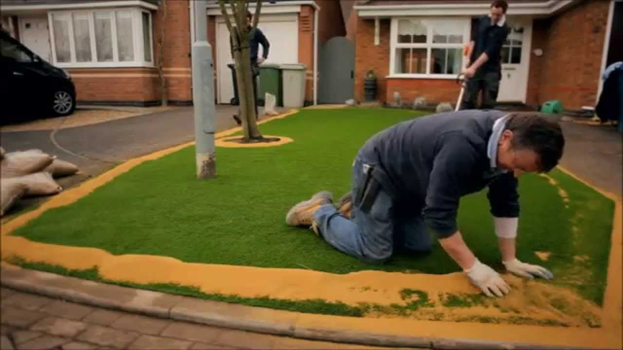 How to install artificial grass with images artificial