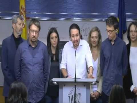 Propuesta de Pablo Iglesias como Vicepresidente de Pedro Sanchez 22/01/2016