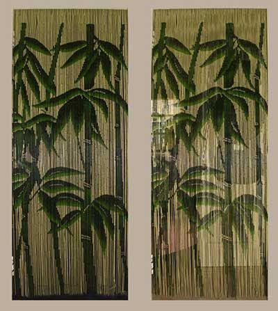 Cortinas de Bambu para Decoração de Casa sala Pinterest