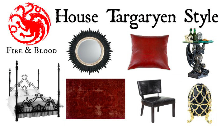 Add some House Targaryen Inspiration to Your Home Decor  See the Collection  and More Game. Add some House Targaryen Inspiration to Your Home Decor  See the