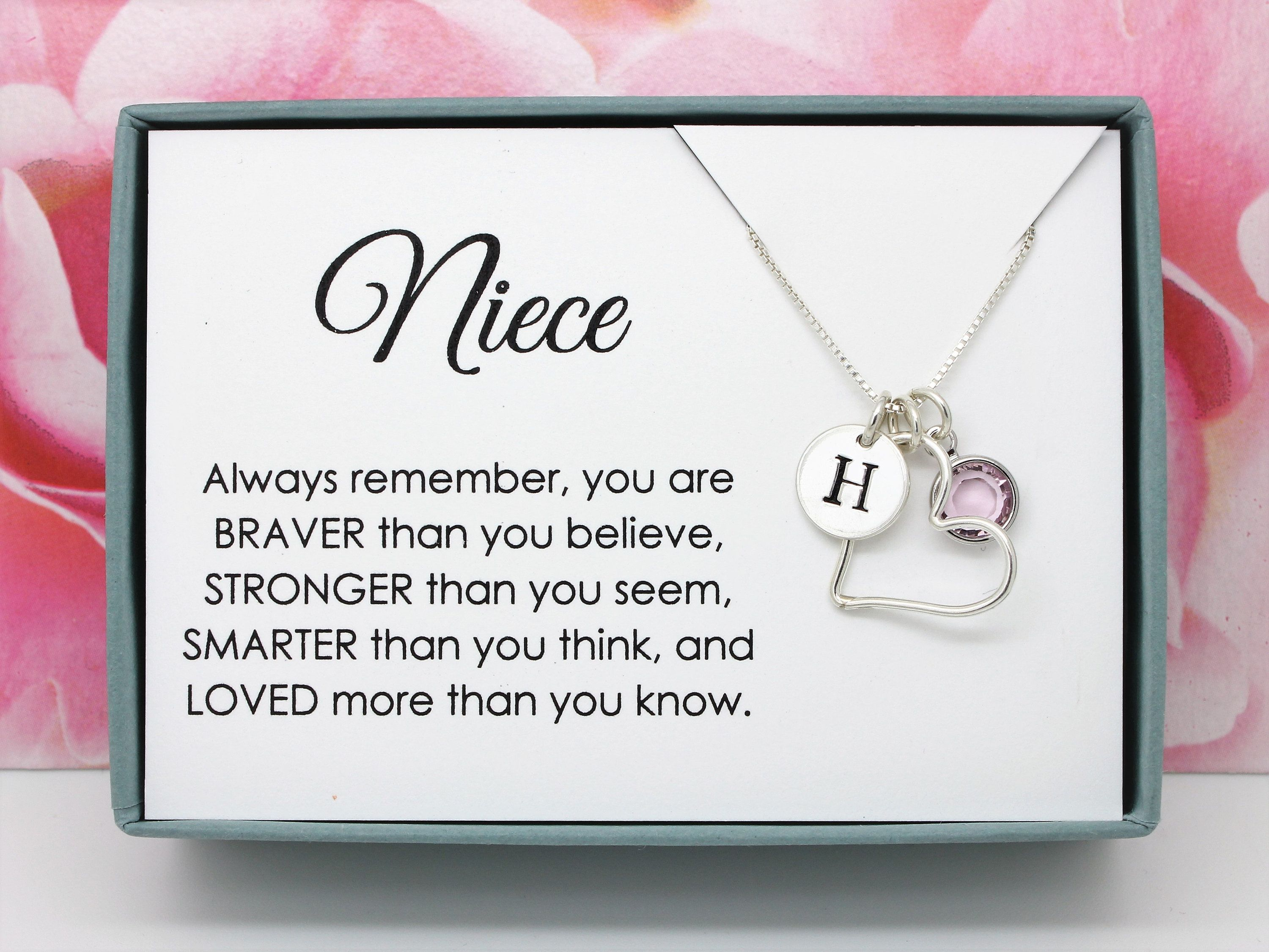 birthday gifts girls gift christmas Heart silver plated necklace personalised with Initial charm