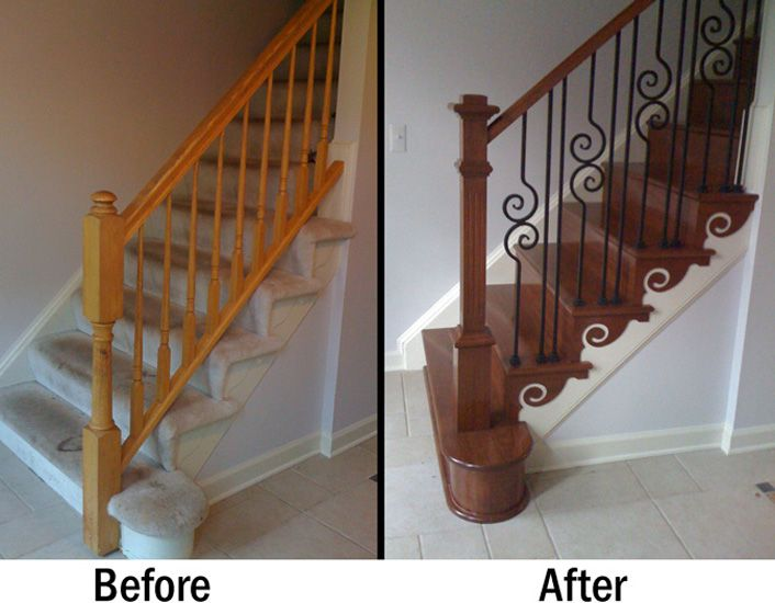Pin By Stairsupplies Custom Stairs On Finished Projects | Wood Stair Tread Manufacturers