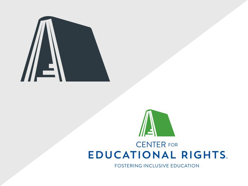 Center For Educational Rights 2 Book Logo Education Logo