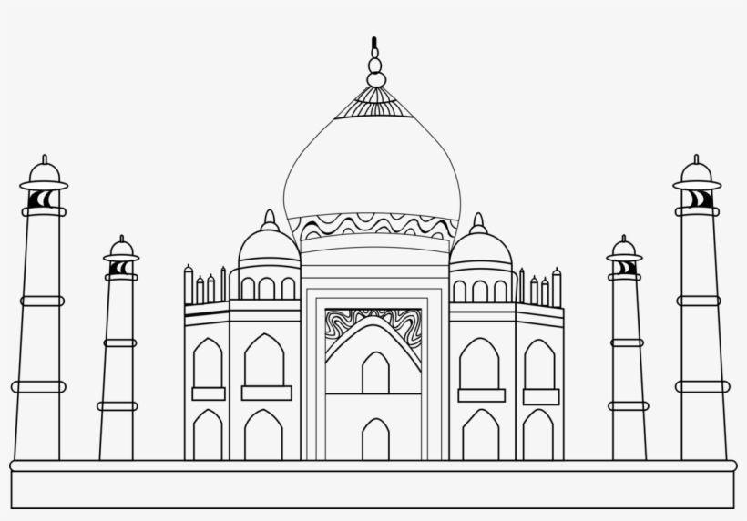 Download Black Taj Mahal How To Draw Drawing Monument Taj Mahal Sketch Png For Free Nicepng Provides Large Taj Mahal Sketch Taj Mahal Art Taj Mahal Drawing
