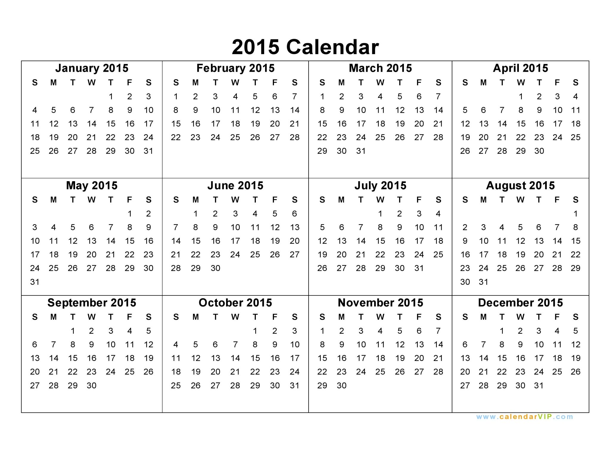 2015 calendars 2015 calendar blank printable calendar template in pdf word excel