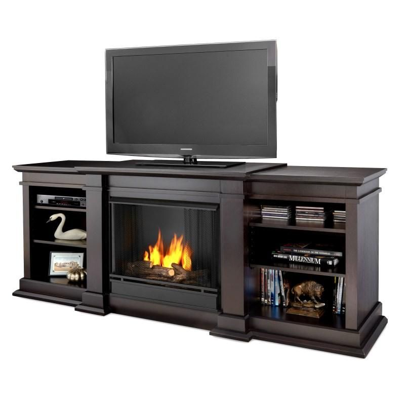 Real Flame Fresno Entertainment Center With Electric Fireplace
