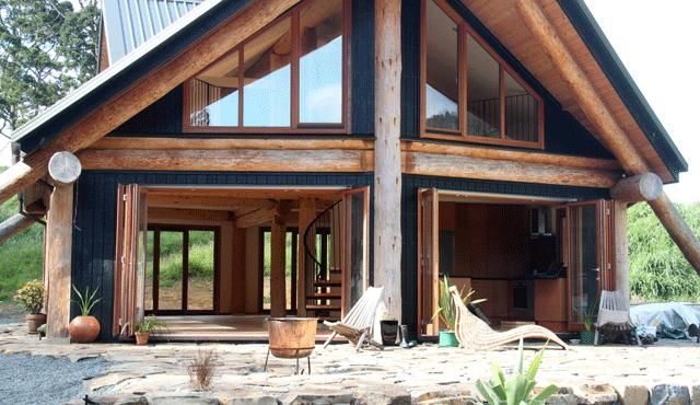 Peachy Eco Friendly Log Home New Zealand Modern Natural In 2019 Home Interior And Landscaping Synyenasavecom