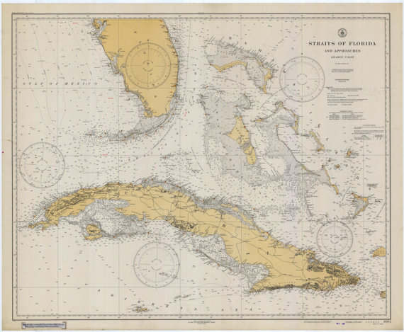 Map Of Florida And Cuba.Florida Keys Cuba Map 1933 Products Pinterest Map Florida