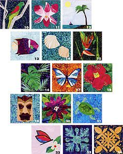 24 tropical quilt blocks by linda causee val 10 95 foundation