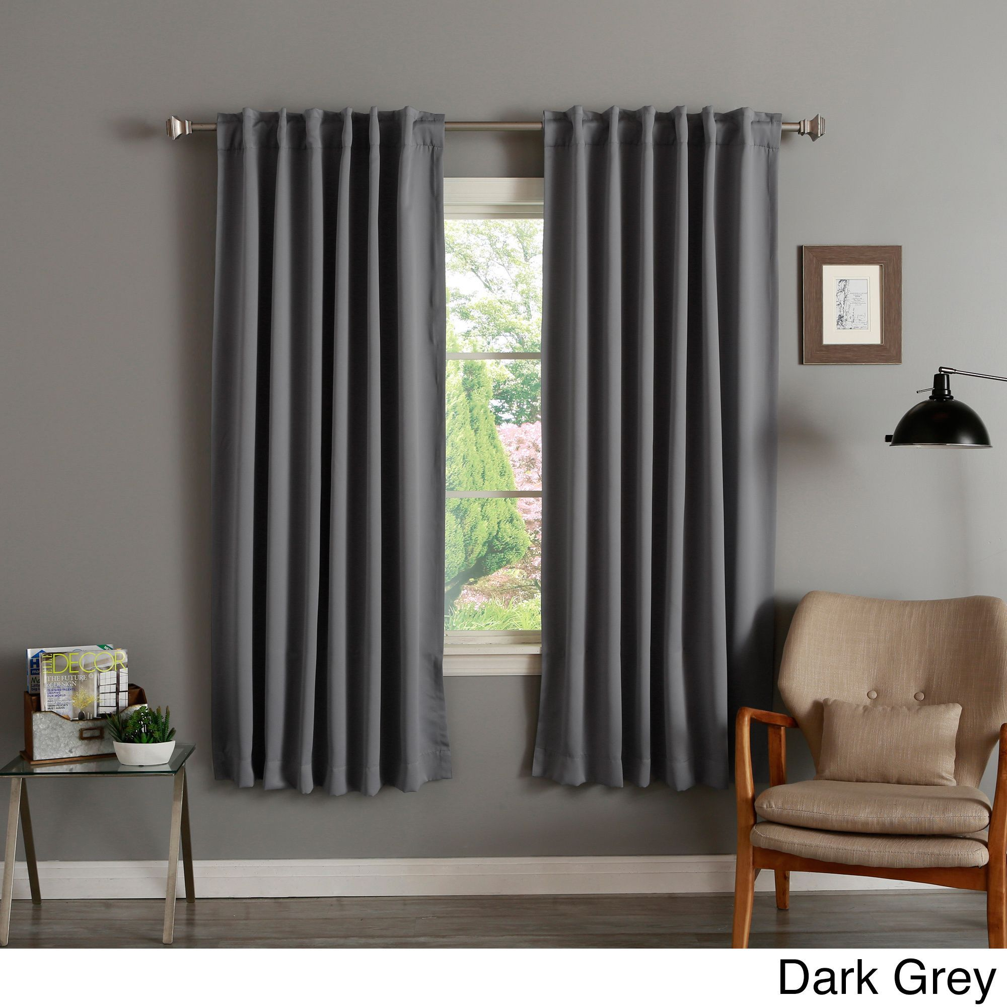 Aurora Home Insulated 72 Inch Thermal Blackout Curtain Panel Pair