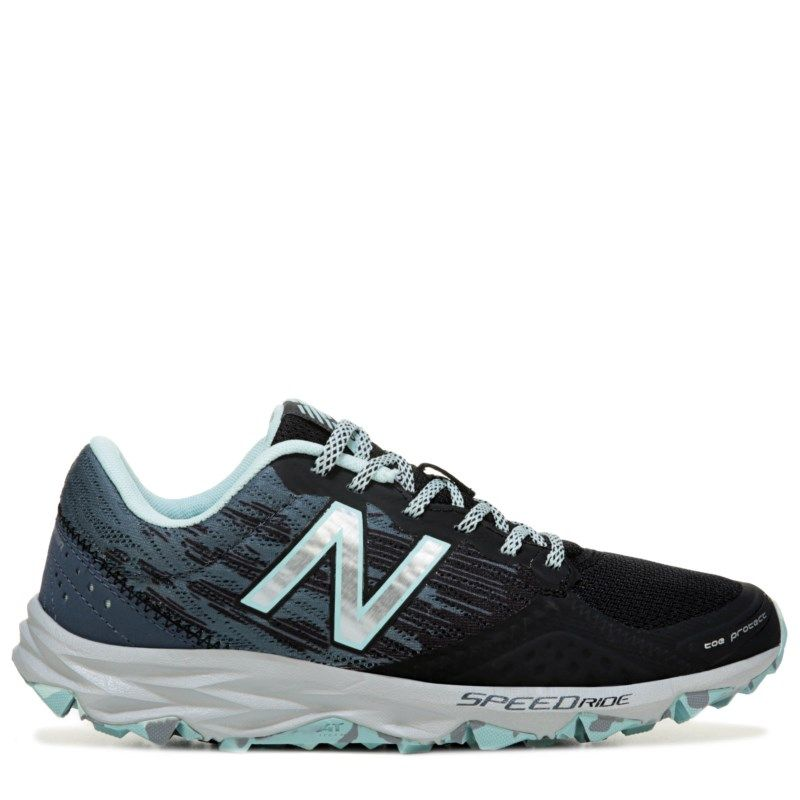 New Balance Women's 690 V2 Trail Running Shoes (Black/Mint)