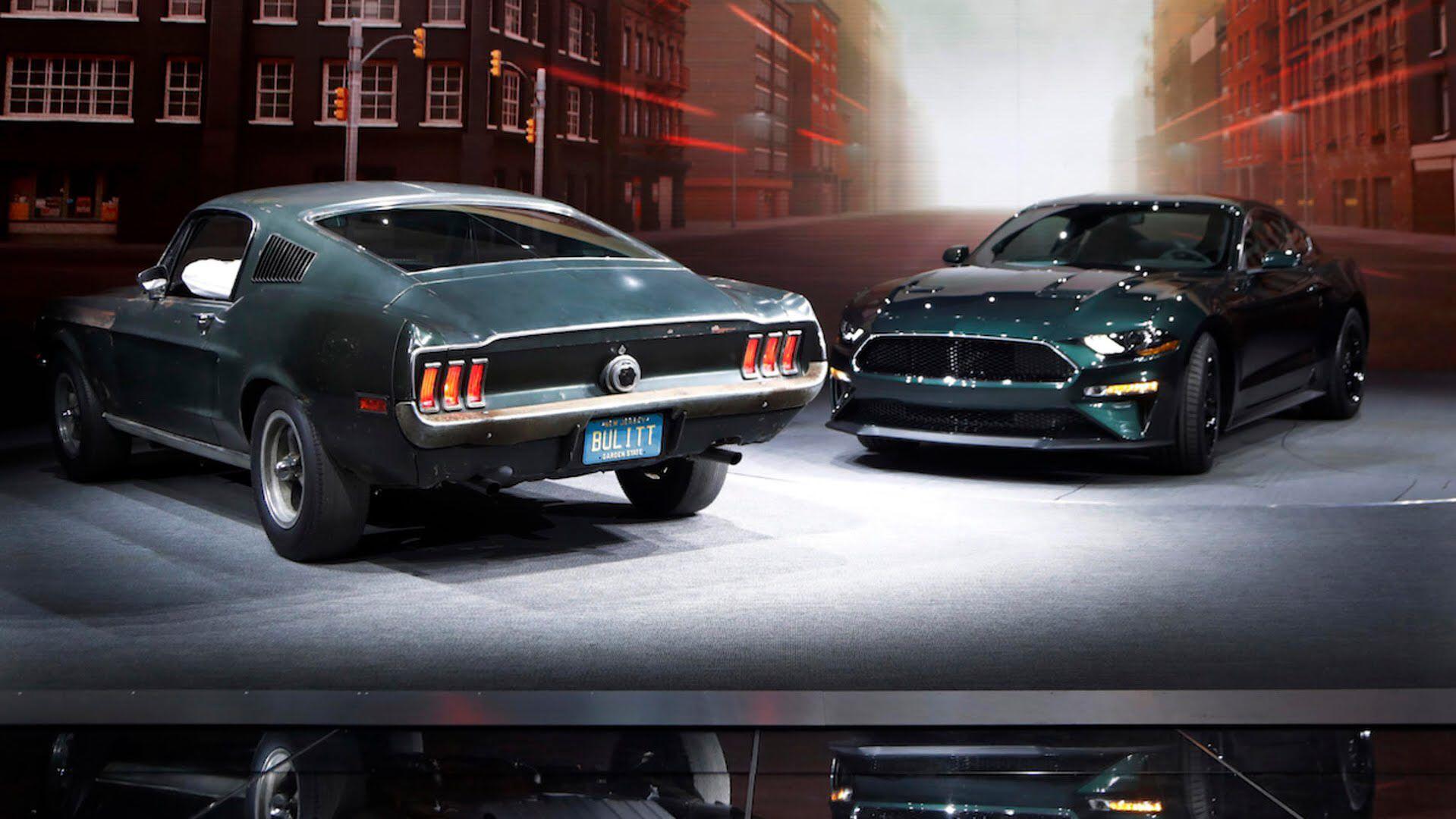 Ford Mustang Old Vs New 50 Years Of Bullitt Mustang Old Ford Mustang Mustang