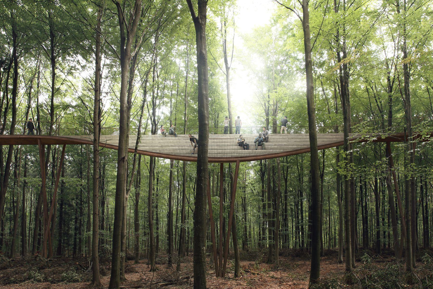Architectural Accessibility In Nature With Denmark S Camp Adventure Landscape Architecture Danish Architecture Parking Design