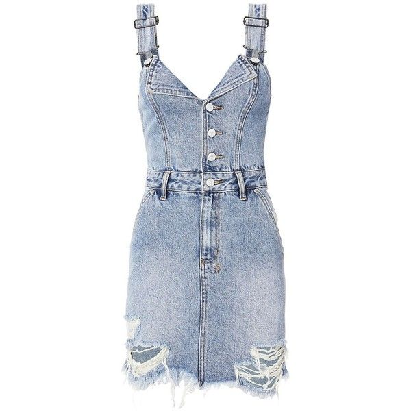 f019cf39b0c Ksubi Women s Palms Shredded Denim Dress ( 198) ❤ liked on Polyvore  featuring dresses
