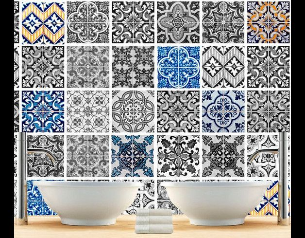 Adesivi di parete per piastrelle cm rinnovo il bagno