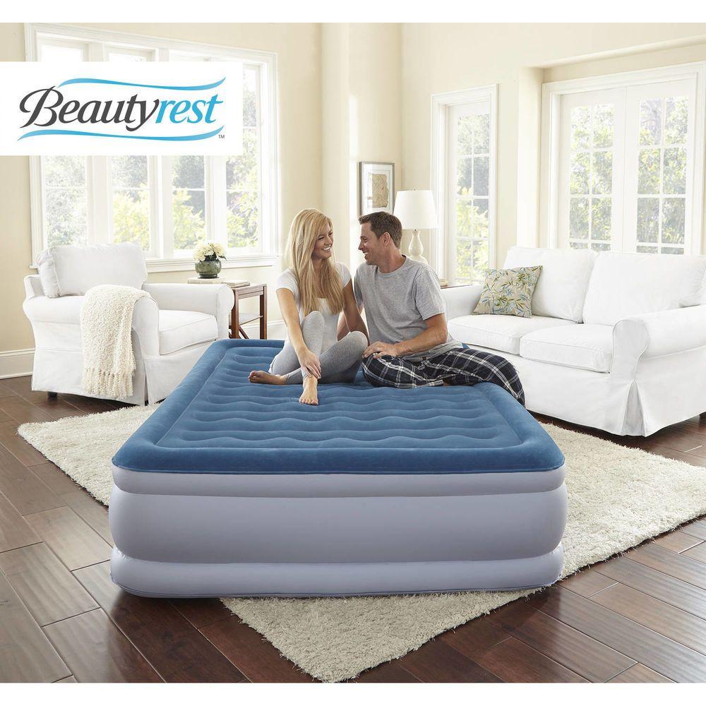 Simmons Beautyrest Air Mattress Inflatable Raised Queen