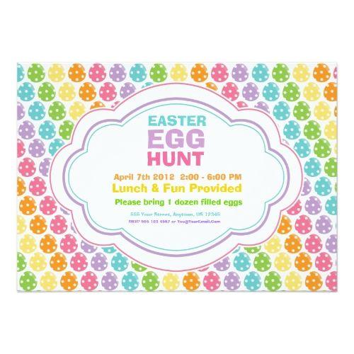 Easter Egg Hunt Rainbow Invitations Pinterest Rainbow Invitations