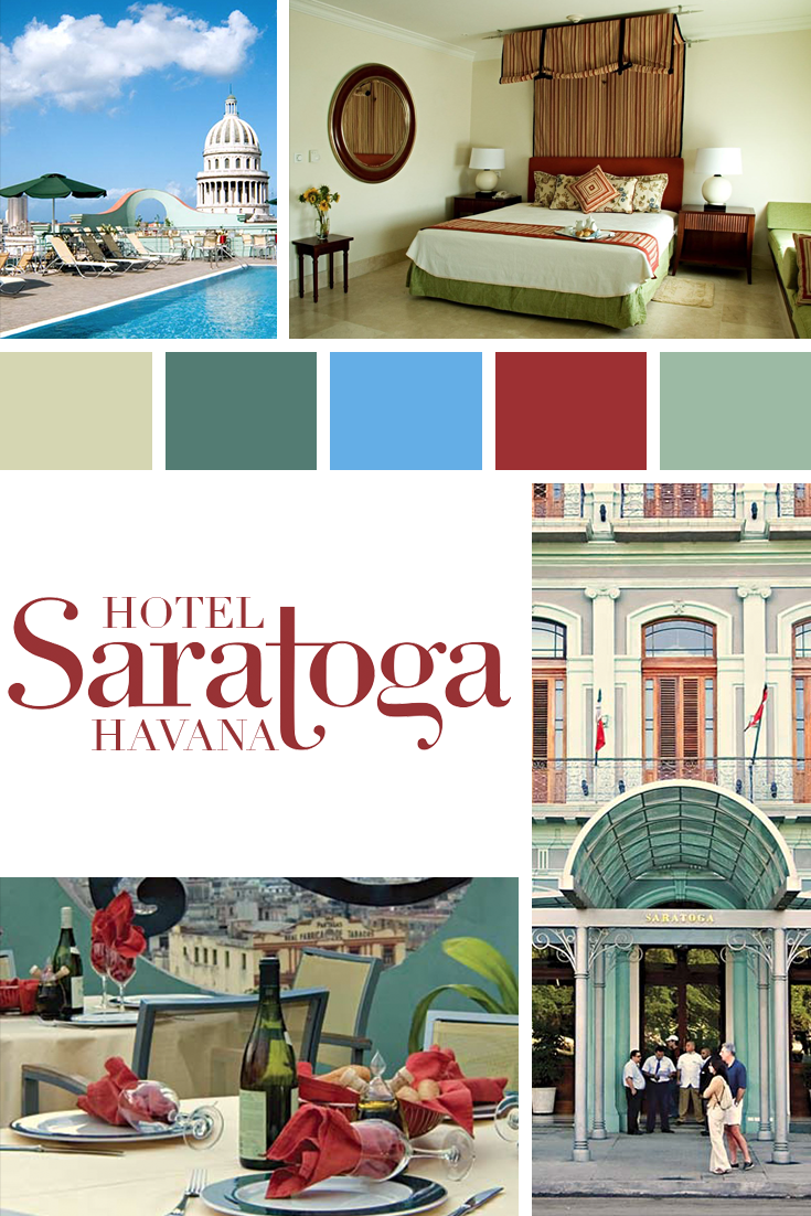 Hotel Saratoga Habana Vieja Cuba. The hotel was originally built on the site in the 1930s and swiftly became renowned for its superb cuisine, the open air entertainments held in its pavement arcade and the concerts given there by such renowned musicians as the Anacaona Orchestra. The Saratoga was one of Havana's most stylish establishments and became a favourite haunt of writers, musicians, artists and socialites from Cuba and overseas.