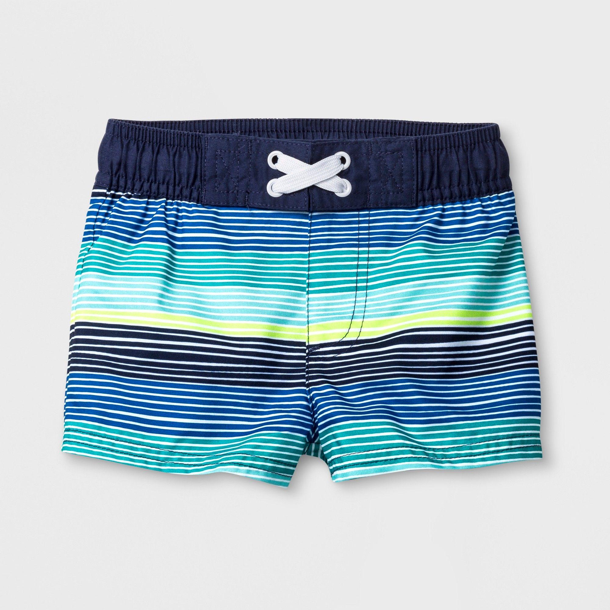 Cat /& Jack Baby boy Swim Trunks 6-9m Blue