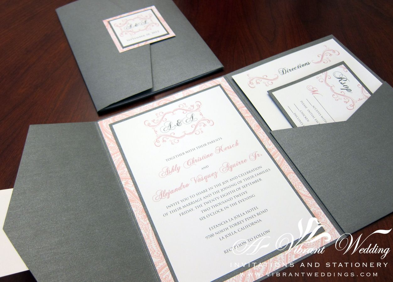 Charcoal Gray and Pink Wedding | Charcoal Grey & Pink Wedding ...