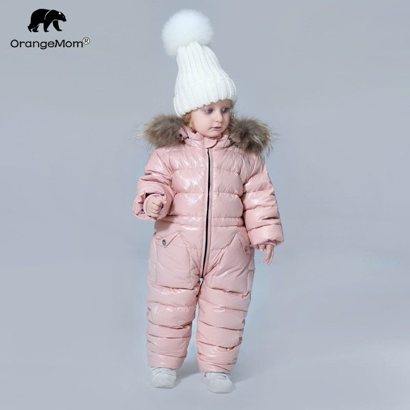 6d4769af1 degree Russian winter children's clothing down jacket boys outerwear coats  ,thicken Waterproof snowsuits Girls Clothing