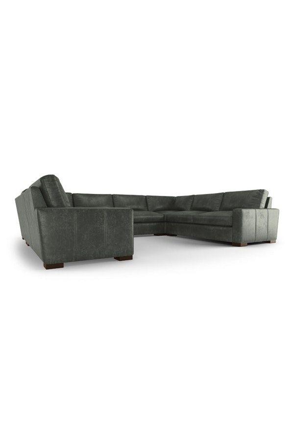 Anton Leather U-Sofa Sectional