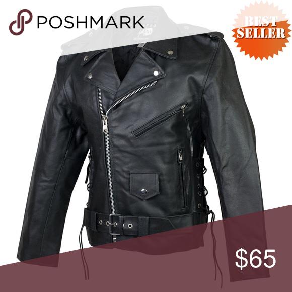 72b4c0ffe07 JAFRUM Black Leather Motorcycle Jacket Details Tall Classic Biker Leather  Jacket. Tall Size Men s Premium