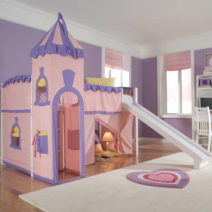 Best Waymire Twin Loft Bed In 2019 Princess Loft Bed Girls 400 x 300