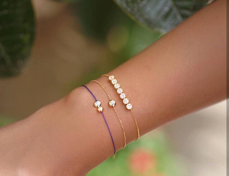 Pin By Afnan Salah On اساور ناعمة Delicate Bracelet Bracelets Jewelry