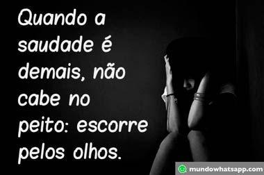 Imagens de Saudades - Mundo Whatsapp