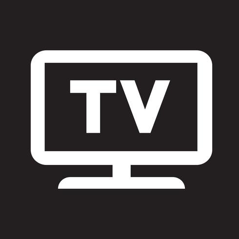 Tv Icon Symbol Sign Tv Icon Vector Free Free Vector Illustration
