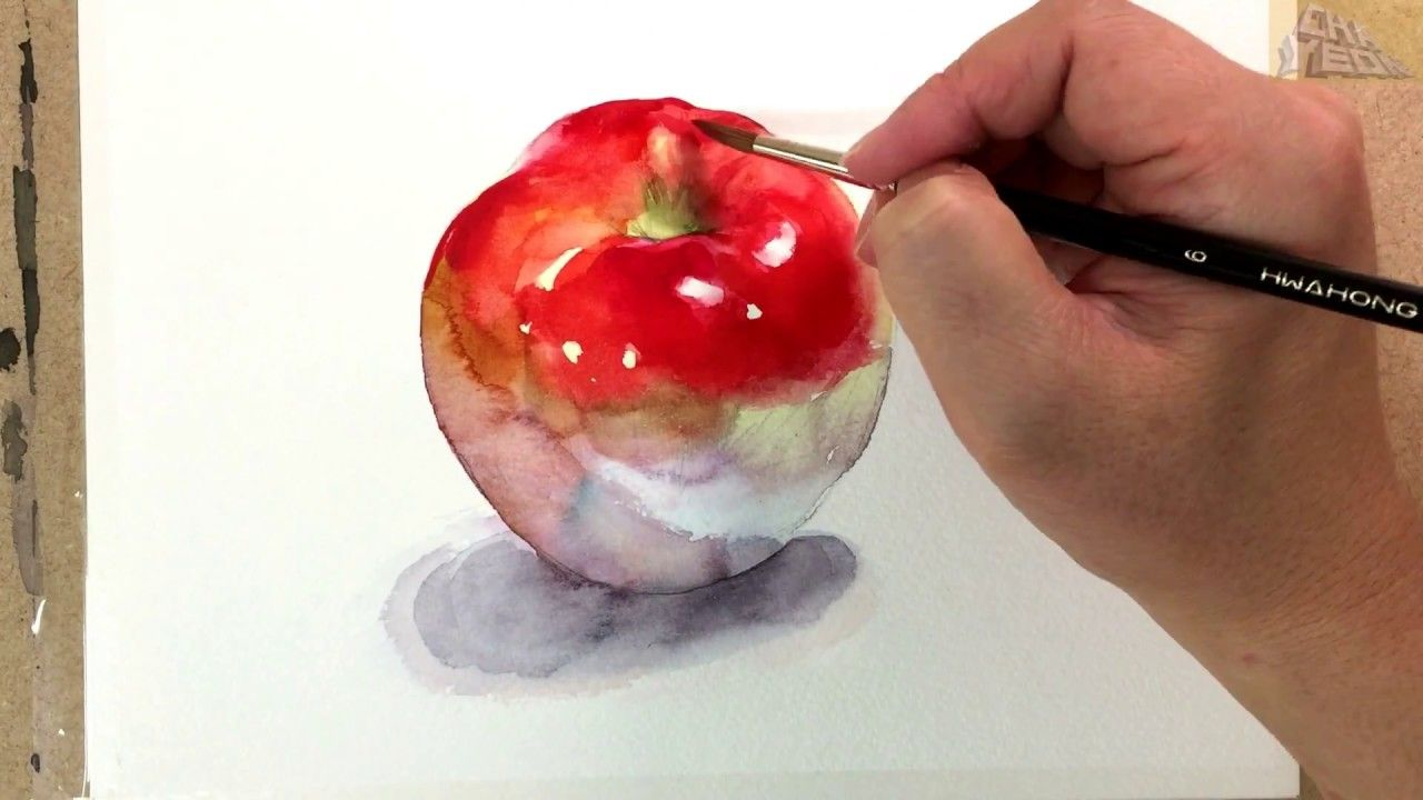 Watercolor Painting Tutorial Apple / 사과 그리기 수채화